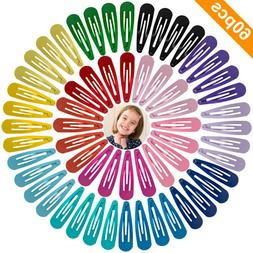 60 Pcs Barrettes Non-Slip Hair Clips 2 Inch Metal Hairpins A