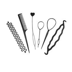 6Pcs Hair French Braid Topsy Tail Clip Magic Styling Stick D