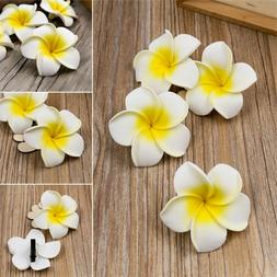 6pcs women plumeria flower hair clip barrette