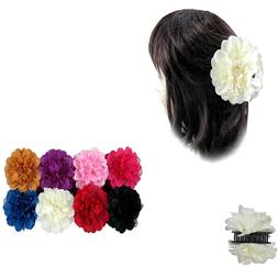 6pcs Women's Double Sided Flower Hair Clip Claw Jaw Pin Updo