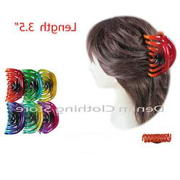 6pcs Women's Oval 3-Tone Butterfly Style Hair Claw Jaw Clip