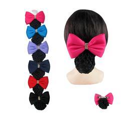6pcs Women's Satin Bow Cover Bowknot Decor Barrette Hair Cli