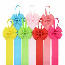 7pcs grosgrain bow tie hair clip barrettes