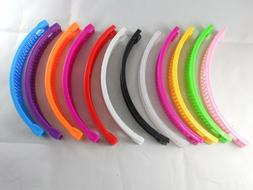 12 pcs Banana Hair Clip Claw Comb choose color .