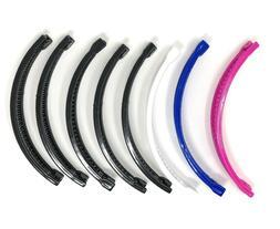 8 pcs Banana Hair Clip Claw Comb Pick up color  .