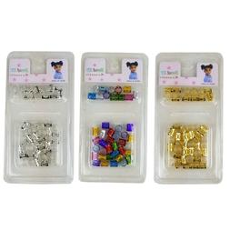 84 pcs Hair Dreadlocks Bead Cuff Clip Decoration Filigree Tu