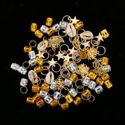 84pcs dreadlock hair ring braid rings hair