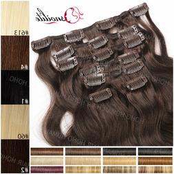 8Inch-24Inch 100% Remy Human Hair Clip in 8 Pieces Extension