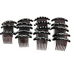 9 Pieces Combs Hair 7 Tooth French Twist Comb Plastic Hair C