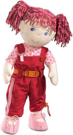 HABA Lilli Dress-up Activity Soft Doll 20 inch with Pink Hai