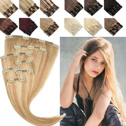 AAAA+ Remy Human Hair Clip in 100% Human Hair Extensions Ful