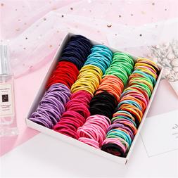 About 100PCS/Lot Girls Candy Colors Nylon 3CM Rubber band Ch