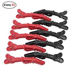 Adecco LLC 10 Pcs Crocodile Hair Styling Clips/Professional