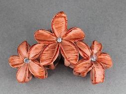 Adobe Orang plumeria hair clip hawaiian flower barrette alli
