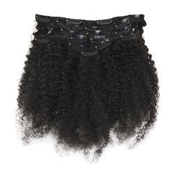 Full Shine Afro Curly <font><b>Clip</b></font> In Human <fon