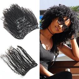 Afro Kinky Curly Clip In Hair Extensions 4B 4C Pattern Mongo