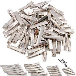 50 pcs Lot Alligator Hair Clip Single Prong Pinch Clips Meta