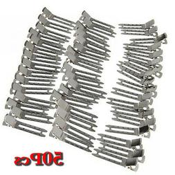 Approx. 50Pcs Double Prong Metal Alligator Clips Hair Bows -
