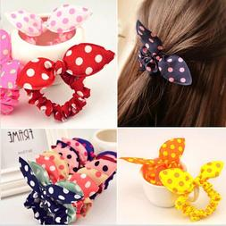 Baby Girl Flower Hair Clip Headbands Rabbit Ears Dot Headwea