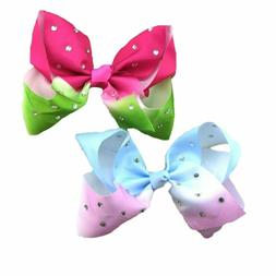 Baby Girl hair Bow Elastic Hair Clip/Hair Tie Ring