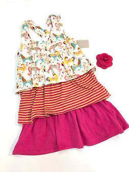 Origany Baby Girl Summer Dress & Hairclip Size 12-18 Months