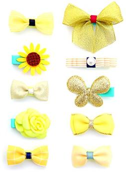 Belle Beau Baby Girls Hair Bows, Hair Clips, Ribbon Lined Al
