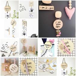 Baby Kids Girls Wood Hair Clip Holder Storage Organizer Wall