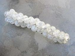 Barrette for Thick Hair Crackle Glass French Clip Hair Barre