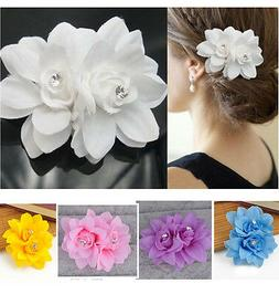 Beautiful Women's Hair Flower Clip Pin Bridal Wedding Prom P