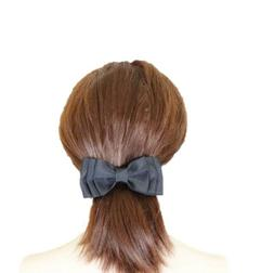 black hair clip hair bow clip ribbon