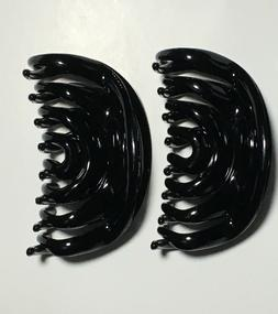 BLACK Large Hair Jaw Clip Claw Clamp 4 inches 2 Pack New