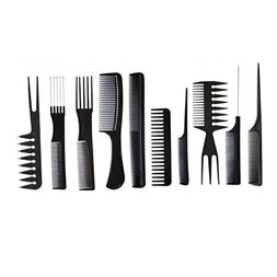 YJYdada 10Pcs Black Pro Salon Hair Styling Hairdressing Plas