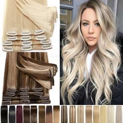 Blonde/Highlight Clip In 100% Remy Human Hair Extensions 8-2