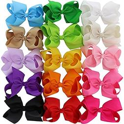"CLKjdz Boutique 6"" Hair Bows Girls Kids Children Alligator C"
