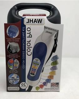 BRAND NEW Wahl Color Pro Clippers Haircut Kit Barber 20 Piec