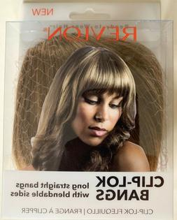 Brand New Revlon Ready To Wear Hair Clip-Lok Bangs Frosted F