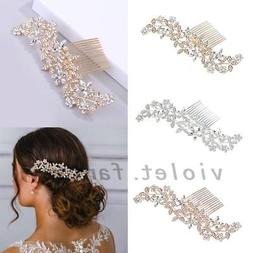 bridal hair comb hair jewelry crystal rhinestone