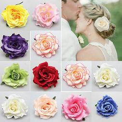 Bridal Rose Flower Hairpin Brooch Wedding Bridesmaid  Access