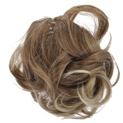 Lux Accessories Brown Blonde Faux Hair Extension Cheerleader