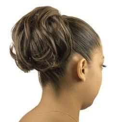 brown faux hair extension cheerleader ponytail hair