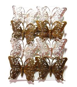 Butterfly Bobby Pins Hair Clip Accessories Filigree Metal Si