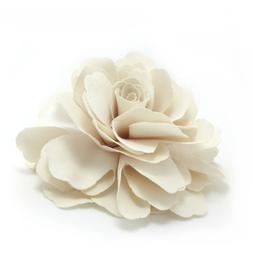 Meilliwish Camellias Flower Hair Clip and Brooch Pin Cream A