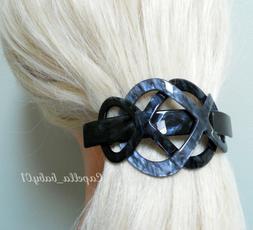 Capella *USA* Charcoal Dark Grey Braided Marble French Barre