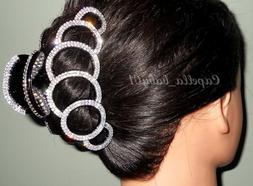 Capella *USA* Elegant Crystal Rhinestones Braided Large Thic