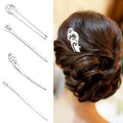 Care Hair Fork Hairpin Hair Clip Alloy Geometric Hairpins Vi