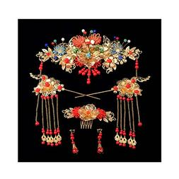 Chinese Ancient Bridal Hair Ornaments Wedding Hair Styling E