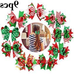 Christmas Bows, Fascigirl 9 PCS Grosgrain Bows Alligator Hai