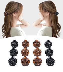 Fascigirl Claw Clips, 12 Pcs Mini Hair Clips Plastic Clamps