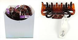 Goody Box of 44 Claw Clips, Brown n' Black