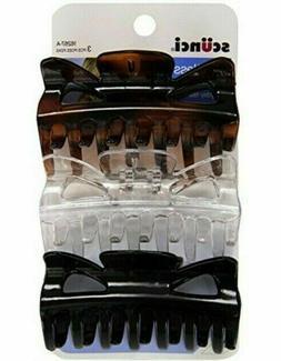 SCUNCI CLAW HAIR CLIP BLACK CLEAR TORTOISE 1 PC CHOOSE COLOR